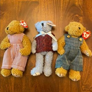 Ty Collectibles- Dexter bear -2 and Blueberry Bear